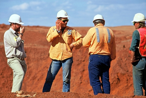 Mining companies are investing in open gold pits.